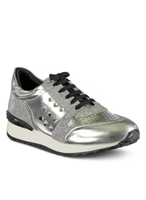 Marjin Dolgu Topuk Ayakkabı Gümüş